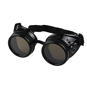 Sannysis Vintage Style Steampunk Goggles Welding Punk Glasses