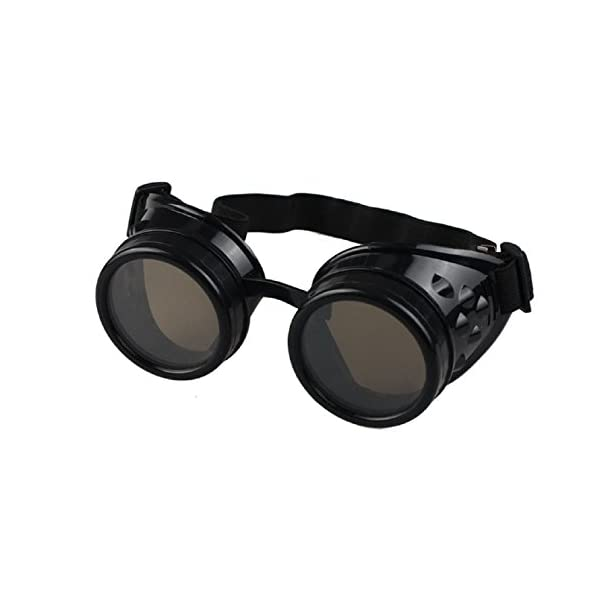 Sannysis Vintage Style Steampunk Goggles Welding Punk Glasses 3