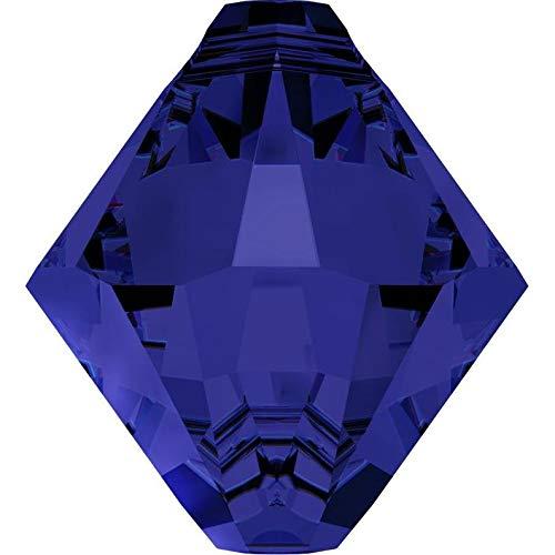 Design Ideas - Swarovski Crystal Bicone Pendants 6301/6328-8mm - Dark Indigo - Unique Selection Beads