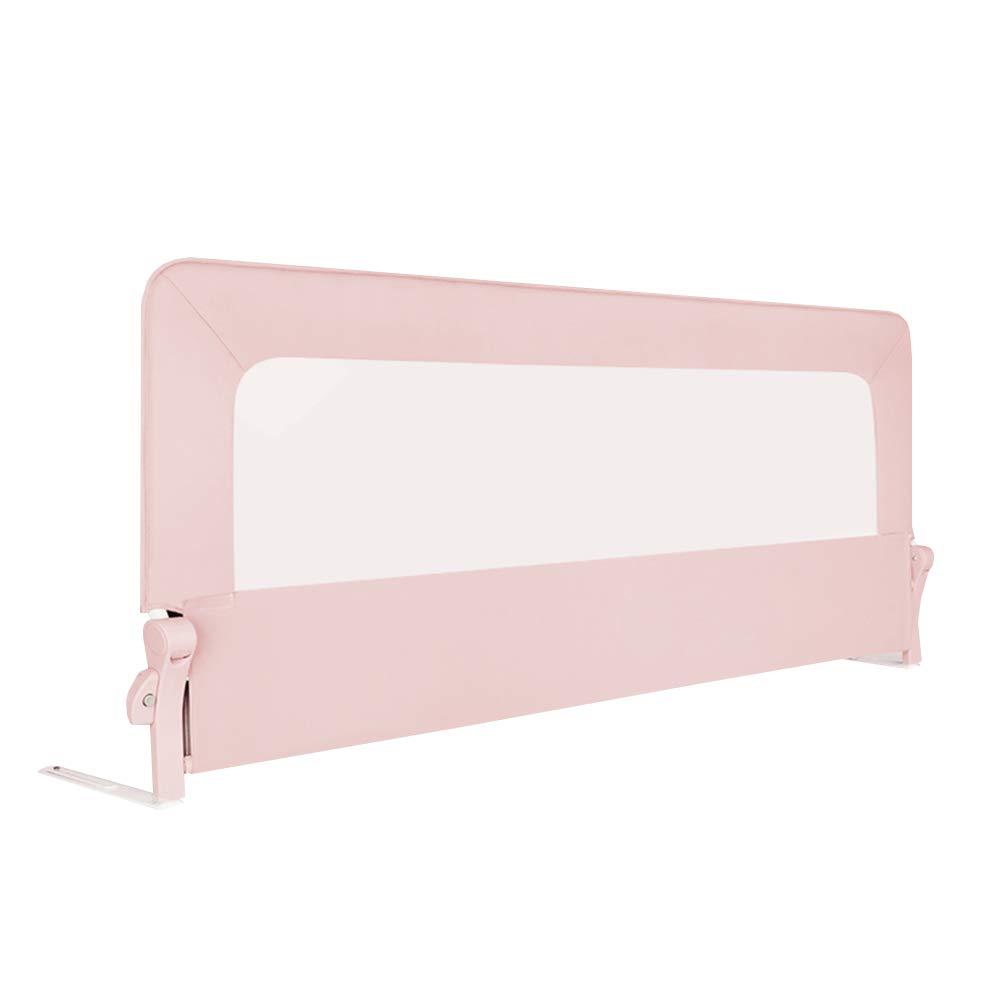 CHUNLAN ベッドガードレール ベビーベッドガードレール、子供用防塵ベッドサイドバッフルベッドフェンスベッドバッフル、取り外し可能な非フェーディングユニバーサルベッドガードレール (色 : Pink, サイズ さいず : 180 * 84cm) 180*84cm Pink B07JVHDW9M