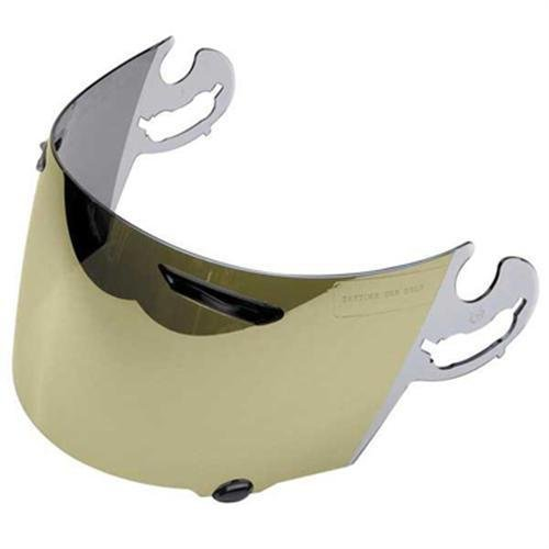 - ARAI 1376 Gold Mirror Shield Visor (ea) for Corsair V RX-Q Vector 2 and Signet-Q Helmet (1376)