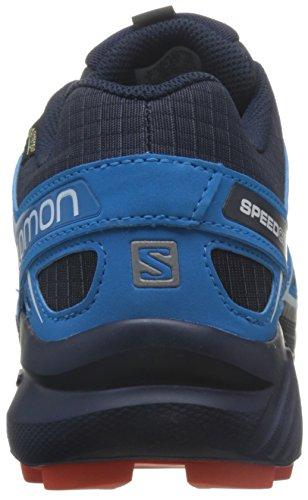 Salomon Herren Speedcross 4, Synthetik/Textil, Trailrunning-Schuhe Blau (Navy Blazer/cloisonné/flame)