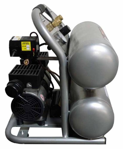 California Air Tools cat-4610 Ultra silencioso y sin Aceite 1.0 HP 4.6-gallon acero doble tanque del compresor de aire: Amazon.es: Bricolaje y herramientas