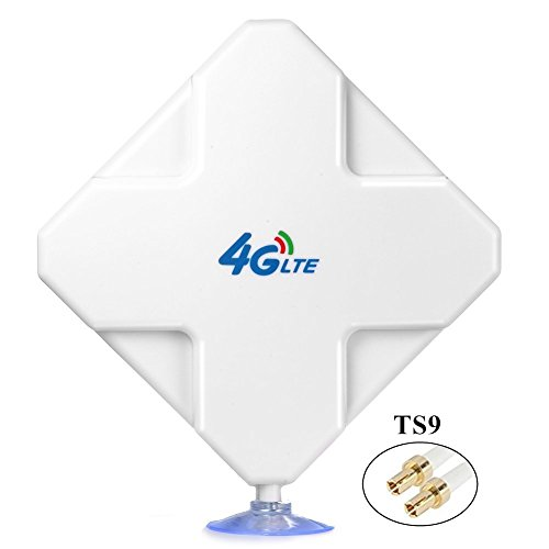 4G LTE Antenna TS9 Male Connector, 35dBi High Gain MIMO Network Antenna Omni Directional Amplifier to Boost WiFi Signal for 4G Router Mobile Broadband Hotspot Outdoor Signal Extender
