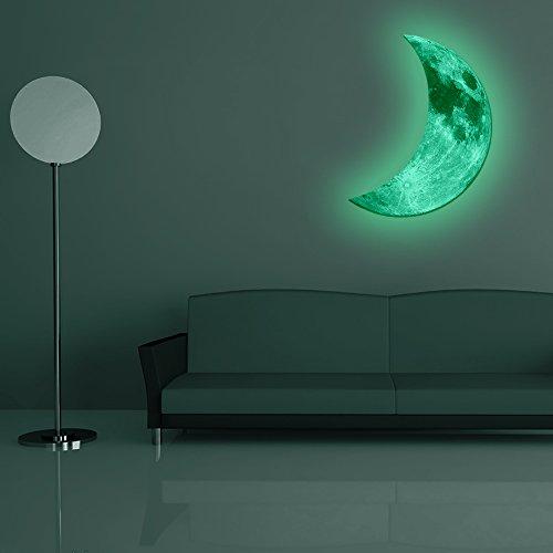 Amaonm 174 Hot Fashion Glow In The Dark Green Crescent Moon