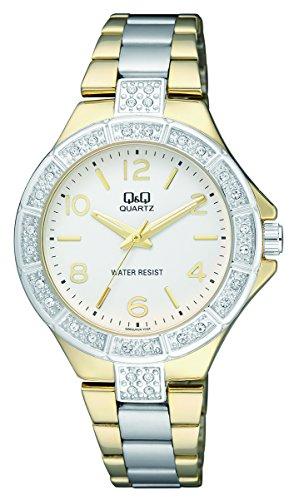 mens-dress-watch-qq-q953j404y-quartz-analog-wrist-watch-gold-silver-stainless-steel-band-waterproof-