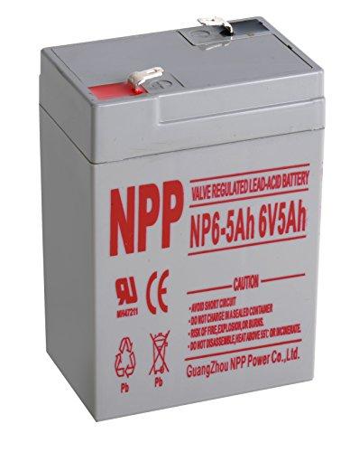 NPP NP6-5Ah Rechargeable Sealed Lead Acid 6V 5 Ah Battery F1