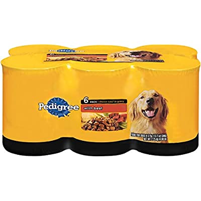 Pedigree Wet Foods 6 Count Choice Cuts Beef Food For Pets