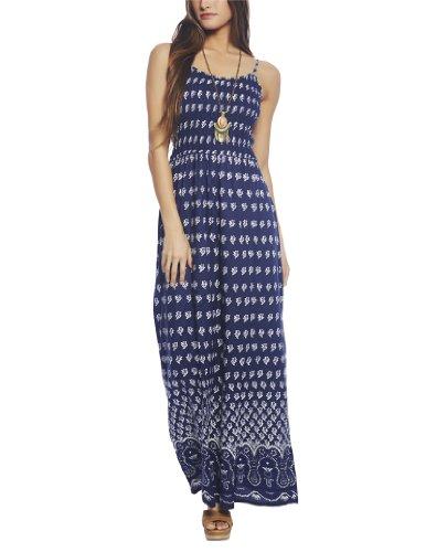 Wet Seal Women's Boho Maxi Dress L Blue