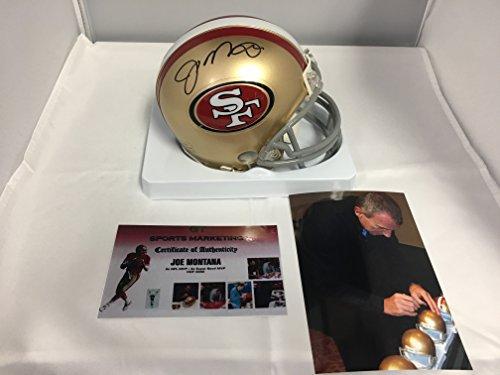 Joe Montana Autographed Signed 49ers Mini Helmet GTSM Montana Hologram & COA Card