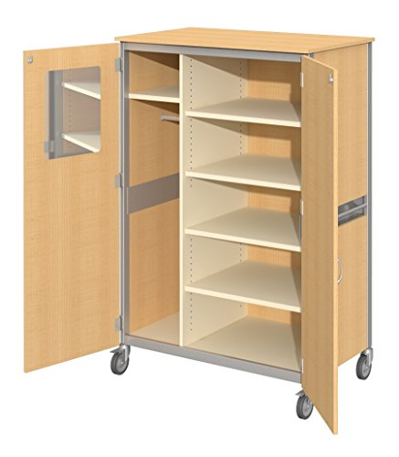 Fleetwood 98.5018.3HU.000-lgghtoOak Shoreline Standard Teacher Cabinet with Locking Doors in Light Oak Laminate