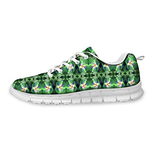 Bigcardesigns Femmes Mode Chaussures De Course Espadrilles Lacets Vert