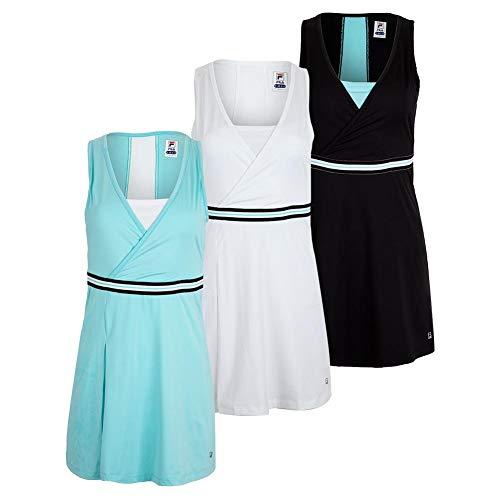 Fila Women`s Love Game Tennis Dress (Small Black/Angel Blue)