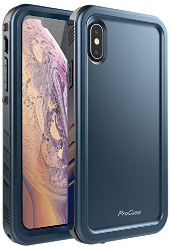 ProCase iPhone XS Max Case, Rugged Full-Body Protective Case with Built-in Screen Protector Heavy Duty Shockproof Bumper Cover for Apple iPhone Xs Max 2018 Release -Teal