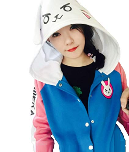 Fuji OW DVA Parker Jacket Cosplay Costume Coat, for Spring and Autumn (S, Blue)