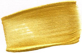 Golden Heavy Body Iridescent Acrylics - Iridescent Bright Gold Fine - 128oz Container
