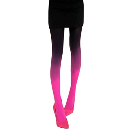 b931acfe5 Image Unavailable. Image not available for. Color: Women Sexy Hose Gradient  Slim Watercolour Pantyhose Stocking Tights ...