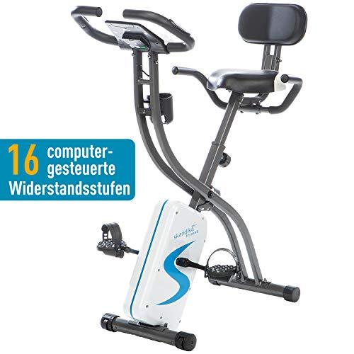 🥇 skandika Foldaway X-2000 – bicicleta estática – Bluetooth – App Google Street View – plegable