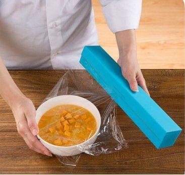Plástico film transparente de Cine Dispensador abrigo del alimento del cortador de cocina práctica Suministro de
