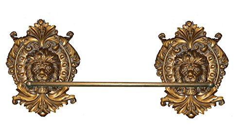 Hickory Manor House Lion Medallion Towel Bar, Antique Gold