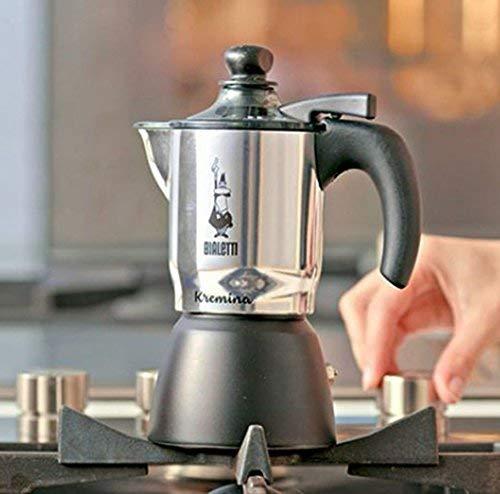 Bialetti 5410 Kremina Espresso Maker Silver//Black