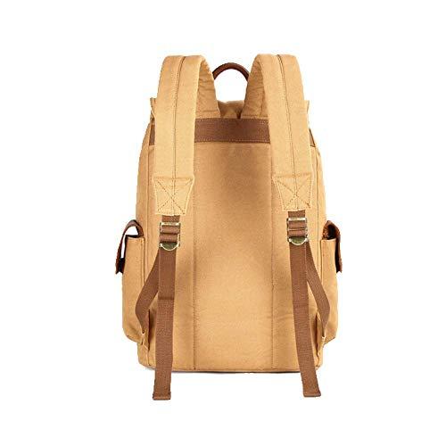 Alpinismo Yxpnu Vintage Uomo Travel Zaino Armygreen Bag Canvas Outdoor Da rpr8TUnC