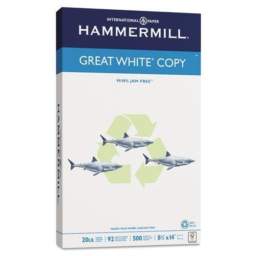 hammermill-86704-great-white-recycled-copy-paper-92-brightness-20lb-8-1-2-x-14-500-shts-ream