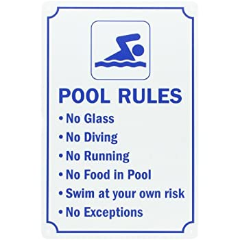 Poolmaster Sign For Residential Or Commercial Swimming Pools Our Pool Rules Duck