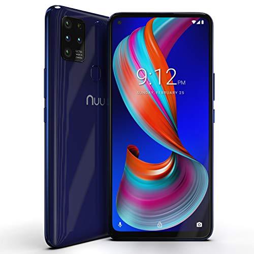 "NUU Mobile G5 4G LTE Unlocked Android Smartphone | 64GB + 4GB RAM | 5000 mAh Battery | 6.55"" HD+ Screen | 16MP Camera | Ultra-Wide Camera | Macro Camera | Ultra Mobile SIM with 1 Month Unlimited Data"