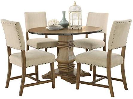 Homelegance 5-Piece Dining Set, Rustic Oak