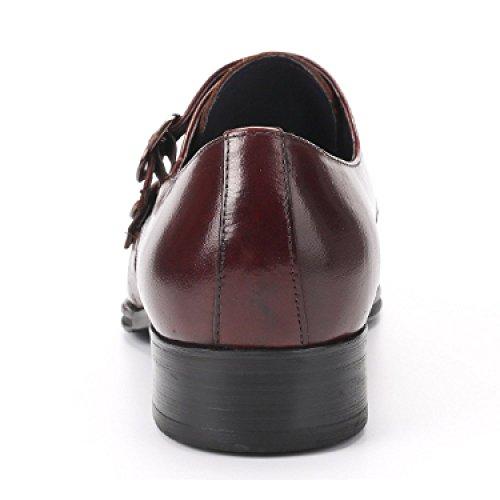 da Fibbia Elegante Lavoro Metallo Business in Scarpe da NIUMT Sposa Scarpe da Indossare Traspirante Comfort Punta Reddishbrown 7UnBOxS