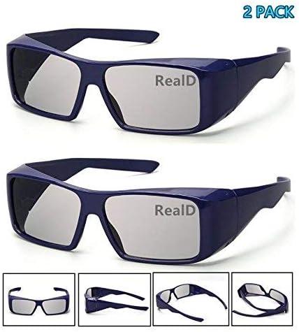 Anteojos 3D pasivos con diseño cuidadoso Unisex para LG, Panasonic ...