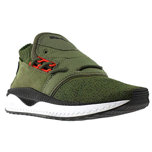PUMA Men's Tsugi Shinsei Nocturnal Olive Night Black White 9.5 D US