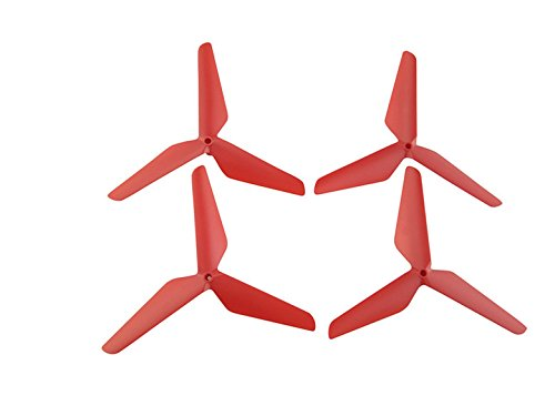 Upgraded Spare Parts Main Blade Propellers Three-Blade Propellers for Syma X5C X5SW X5HW X55 RC Mini Quadcopter Toy Red
