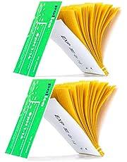 2 Packs of pH Test Strips, Wide-Range 1-14, Litmus Paper, for Water, Drinks, Vinegar, Saliva, Urine, Cosmetic Solutions, Soap, Fish Tank, Pool (160 Strips)