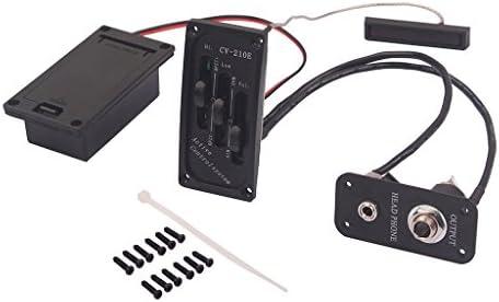 エレクトリック バイオリン ピックアップ 調節可能 サイレント EQ ピエゾピックアップ イコライザー