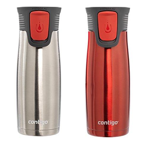 Contigo - Astor 16-Oz. Travel Mugs (2-Pack) - Stainless-Steel/Watermelon