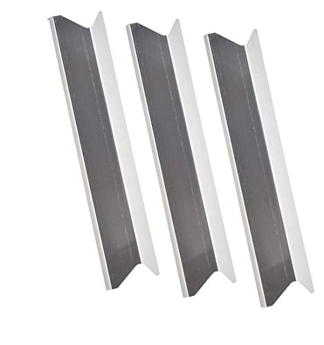 - 3 Pack Stainless Steel Heat Plate Replacement for BBQTEK GSS3219A, 1614453, GSS3219AN, GSS3219B, 1662914, Jasper Gas Grill Models