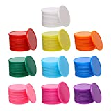 Shapenty 32mm/1.26 Inch Small Plastic Learning Counters Disks Bingo Chip Counting Discs Markers for MathPractice and Poker Chips Game Tokens with Storage Box, 10 Colors,120PCS