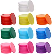 Shapenty 32mm/1.26 Inch Small Plastic Learning Counters Disks Bingo Chip Counting Discs Markers for MathPract