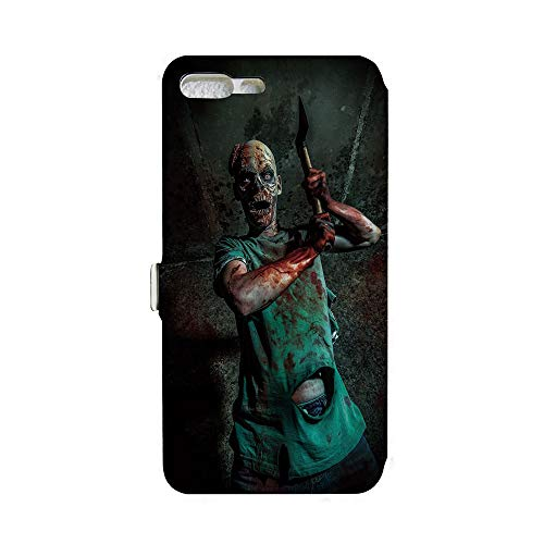 Phone case Compatible with iPhone 7Plus/iPhone 8Plus 3D Printed PU Skin Cover Protection Sleeve,Satan Human Life Death Themed Fantasy Graphic,Army,iPhone case Premium PU Leather Magnetic Flip Foli