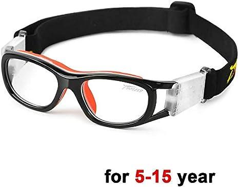 PELLOR Gafas de Deporte, Adultos Niño Gafas Protectoras Gafas de Seguridad Deportiva Adjustable para los Amantes de Fútbol Baloncesto Tenis