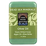 One With Nature Olive Oil Dead Sea Mineral Soap, 7 Ounce Bar