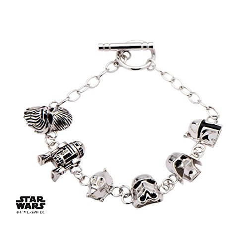 Star Wars 3D Characters 925 Sterling Silver Bracelet w/Gift Box by Superheroes Brand by Superheroes Brand