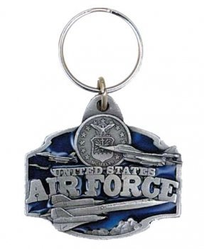 US Air Force Keychain Military Collectibles Patriotic Gifts Men Women (Female Insignia Ring)