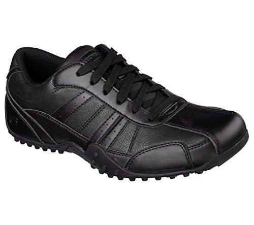 Skechers for Work Men's Elston Relaxed Fit Resistant Work Shoe, Black, 11.5 M US