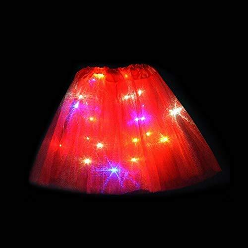 Gmorosa Magic Light Princess LED Dancing Skirt Luminous Christmas Party Stage Tulle Ballet Children Girl