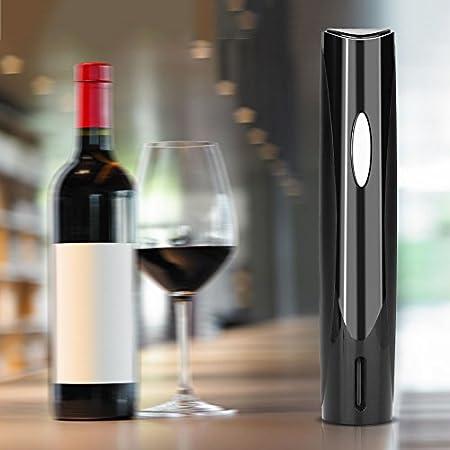 Elektrischer Weinöffner, automatischer Korkenzieher für Weinflaschen mit Folienschneider für Weinliebhaber, batteriebetrieben (nicht im Lieferumfang enthalten)(Schwarz)