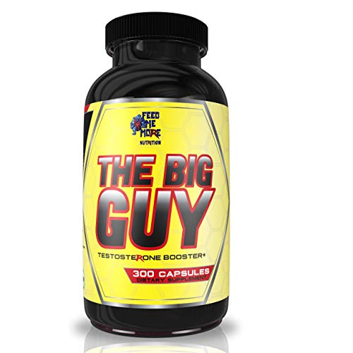 The Big Guy Bodybuilding Testosterone Booster for Men - Vegan-Friendly, Non-GMO Weightlifting Supplement - Naturally Boost Testosterone and Libido - 300 Capsules