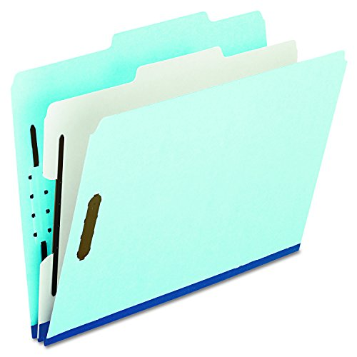 (Pendaflex 920025RCP2 Four- and Six-Section Classification Folders, Letter, 2/5 Tab, Blue (Box of 10))